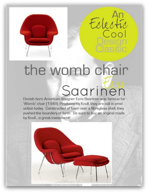 Design Classic…Womb Chair