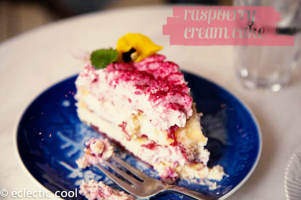 Yum…raspberry cream cake