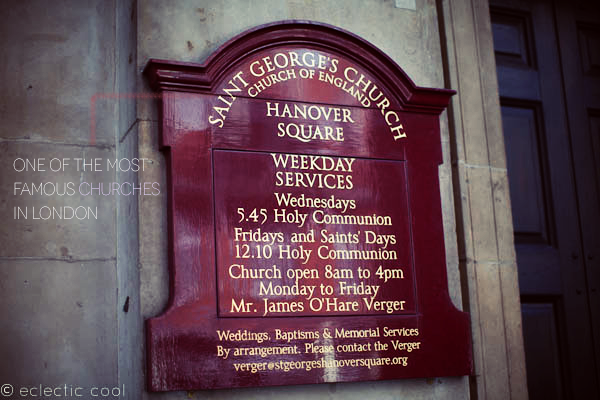 Cool…St Georges, Hanover Square, London