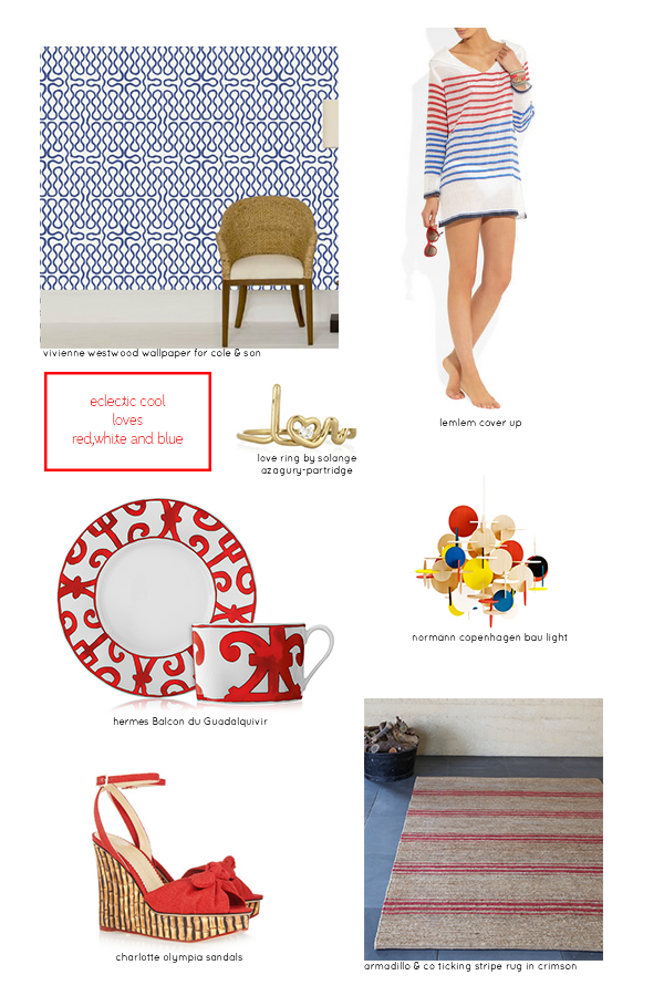 Cool…red, white and blue summer