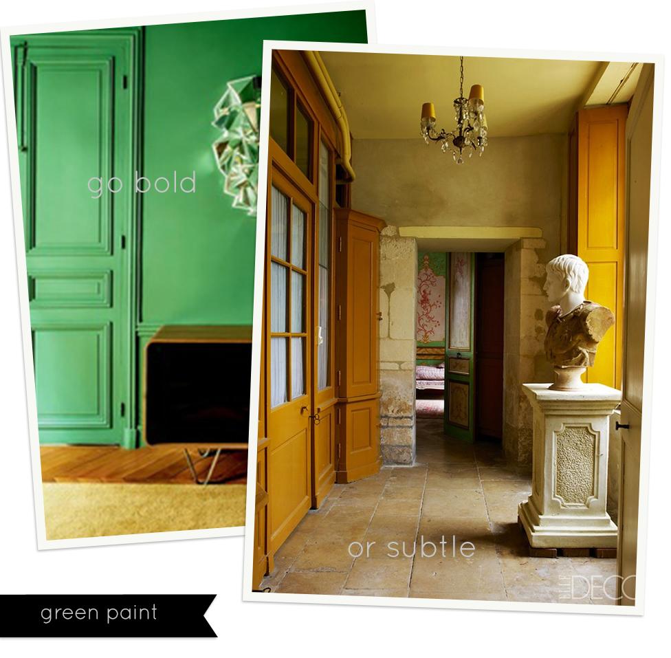 Cool…green hues