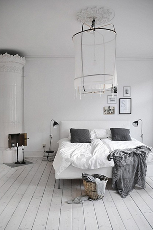 Cool…winter white interiors